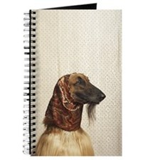Afghan hound wearing scarf Journal