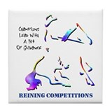 Reining Competitions Tile Coaster