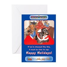 Dachshunds Topo and Bowie Holiday Cards (Pk of 10)