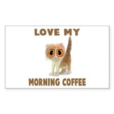 MORNING COFFEE Rectangle Decal