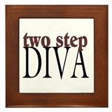 Two Step Diva Framed Tile