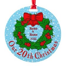 Our 20th Christmas Ornament
