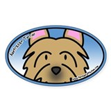 Anime Australian Terrier Oval Decal