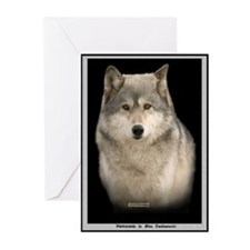 Gray Wolf Note Cards (Portrait) (Pk of 10)