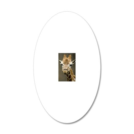 Cute Giraffe, Taiwan, Taipei 20x12 Oval Wall Decal