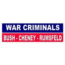 CRIMINALS... Bumper Bumper Sticker