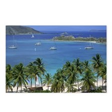 Pristine harbor with boat Postcards (Package of 8)