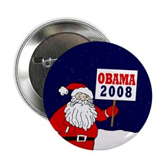 "Santa for Obama 2008 2.25"" Button (100 pack)"