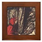 Rackham's Red Riding Hood Framed Tile