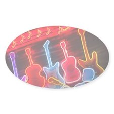 Illuminated guitars on Beale Street Decal