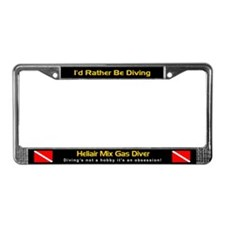 Heliair Mixed Gas Diver, License Plate Frame