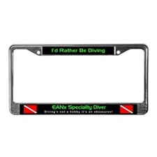 EANx Mixed Gas Diver, License Plate Frame