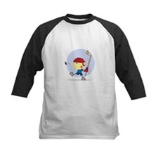 Hockey Kid Baseball Jersey