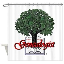 Genealogist Shower Curtain