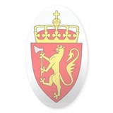 Royal Coat of Arms of Norway Oval Decal