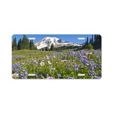 Wildflower meadow, Mount Ra Aluminum License Plate
