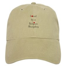 Loved by a Belgian Sheepdog Baseball Cap