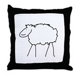 Sheep Icon Throw Pillow