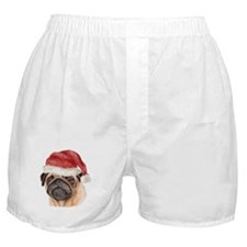 Christmas Pug Boxer Shorts