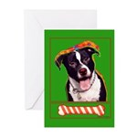 Pitbull Greeting Cards (Pk of 10)