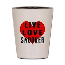 Live Love Snooker Shot Glass