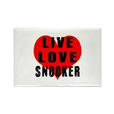 Live Love Snooker Rectangle Magnet
