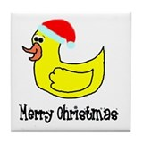 Senor Christmas Duckie Tile Coaster