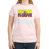 Word Art Flag of Ecuador Women's Pink T-Shirt