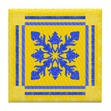 Cool Textiles Tile Coaster