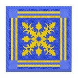 Bonnie Blue & Yellow Tile Coaster