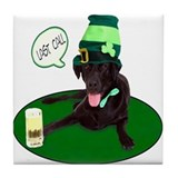Black Lab Last Call Tile Coaster
