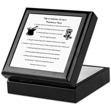 Pharmacy Tech Top 10 List Keepsake Box