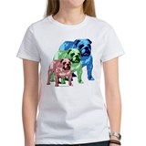 3 Color Bulldogs Design Tee