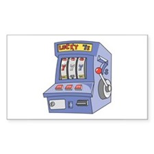 Slot Machine Rectangle Decal