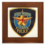 Fort Worth Police Framed Tile