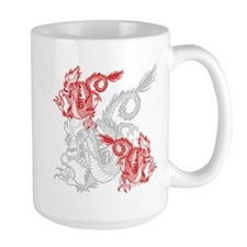 Chinese Red Dragons Mug