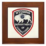 Wyoming Corrections Framed Tile