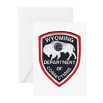 Wyoming Corrections Greeting Cards (Pk of 10)