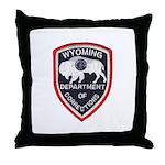 Wyoming Corrections Throw Pillow