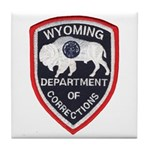 Wyoming Corrections Tile Coaster