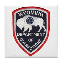 Wyoming Corrections Tile Coaster
