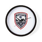 Wyoming Corrections Wall Clock