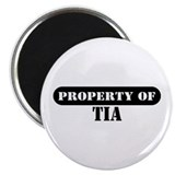 "Property of Tia 2.25"" Magnet (100 pack)"