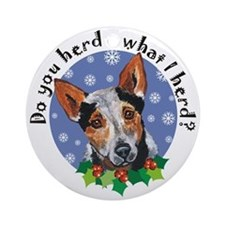 Red Heeler Dog Christmas Ornament