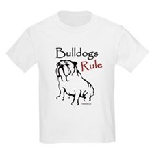 Bulldogs Rule Black Kids T-Shirt