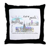 New York (wide) Throw Pillow