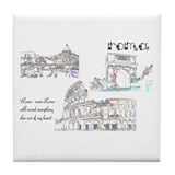 Rome (wide) Tile Coaster