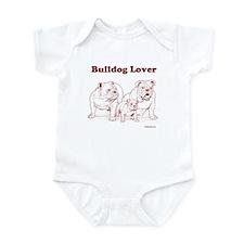 Bulldog Lover Red Infant Bodysuit