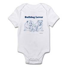 Bulldog Lover Blue Infant Bodysuit