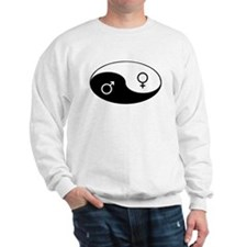 """Yin Yang / Male Female"" Sweatshirt"